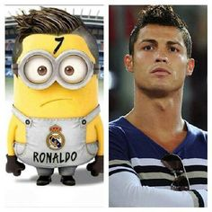 Now I know wat Ronaldo looks like when he is a minion. Ronaldo Soccer, Cr7 Ronaldo, Cristiano Ronaldo 7, Minions, My Minion, Best Football Players, Soccer Players, Yellow Guy, Merrell Twins