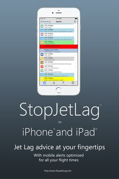 StopJetLag 4.0 for iPhone and iPad updates:  iOS 9 support - Enhanced flight visibility for all your flight departures and arrivals - Refined notifications for current jet lag advice - Updates to jet lag advice information