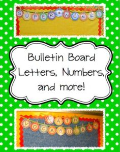 Bulletin Board Letters and Numbers Decoration $2 Cute!