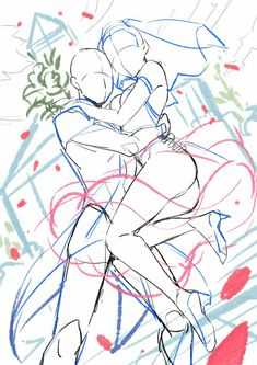Guy holding girl up, like in wedding. -- Drawing tools, inspiration, creativity, reference sheet, guide, poses, Hochzeit base, couple, clothes