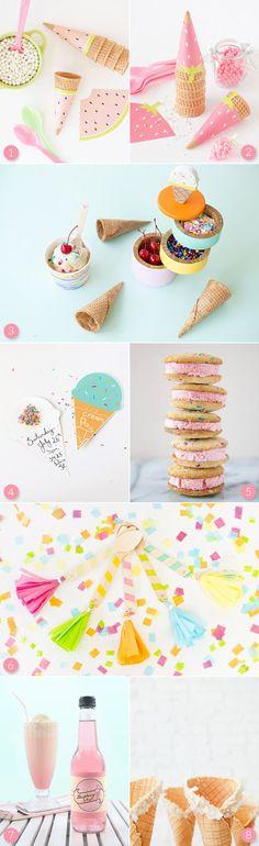 Ice Cream Party Ideas - do with ice cream bar!  Cute summer theme!