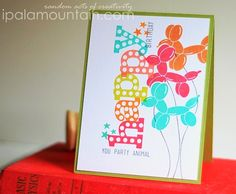 The birthday sketch challenge... Party Animal Stamp from AeryElle...got this one. Great idea-Terri.