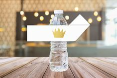 Printable Crown Water Bottle Labels || Where The Wild Things Are Party Supplies || Wild Things First Birthday Party (DIGITAL PRODUCT)