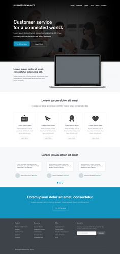 Free Corporate Website Template, #CorporateDesign, #Flat