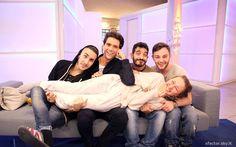 Mika with finalists of XF8 (Madh, Mario, Lorenzo and Ilaria)