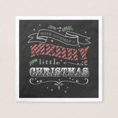 Merry Little Christmas Cocktail Napkins