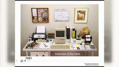 Ein Team am Harvard Innovation Lab hat diese Geschichte der Technik in Bilder gefasst und zeigt uns, wie sich der Büroarbeitsplatz in den Jahren von 1981 bis heute entwickelt hat