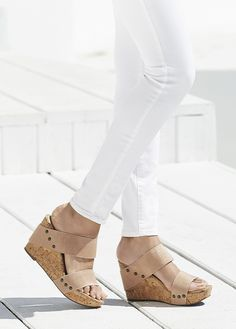 Platform cork wedges that are incredibly comfortable | Sole Society Emilia