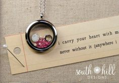 """""""I carry your hear with me""""  http://www.southhilldesigns.com/kaylynnhosch/ProductList.aspx"""