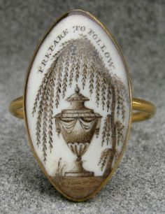 """""""Prepare To Follow"""" Mourning Ring, late 18th-early 19th century"""
