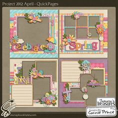 Project 2012: April - QuickPages (TT) :: 12x12 Quick Pages :: Hybrid, Quickpages & Printables :: SCRAPBOOK-BYTES