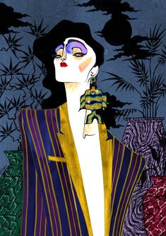 New work by Julian Stips in a beautiful art deco style Illustration Mode, Psychedelic Art, Art Sketchbook, Aesthetic Art, Fashion Sketches, Art Deco Fashion, Art Inspo, Painting & Drawing, Art Reference