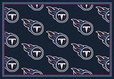 Tennessee Titans Logo Repeat Rug in Tennessee Titans from ACWG