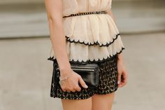 Lacie | Nude Lined Black Lace Shorts on www.sidewalkready.com