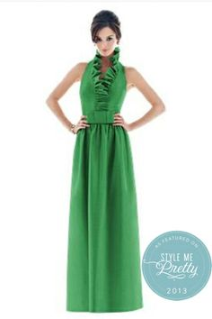 Emerald Green Bridesmaids Dress + Ruffles = Perfect!