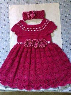 all free crochet, crochet baby dress, crochet dress, croch Crochet Baby Dress Pattern, Baby Girl Crochet, Crochet Baby Clothes, Crochet For Kids, Knit Crochet, Crochet Wedding Dresses, Baby Bows, Baby Girl Dresses, Crochet Baby Dresses