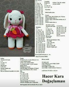 Amigurumi dress knitted toy rabbit models told construction - # . Amigurumi dress knitted toy rabbit models told construction - Always wanted to. Crochet Animal Amigurumi, Easter Crochet Patterns, Crochet Bunny Pattern, Amigurumi Doll, Crochet Animals, Crochet Dolls, Free Crochet, Knitted Teddy Bear, Diy Crafts Crochet