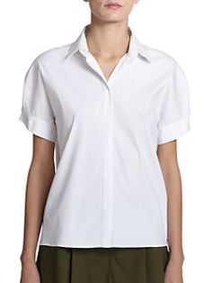 Piazza Sempione - Cotton-Blend Pleated-Back Top