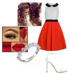 """""""Red❤"""" by ekeene-1 on Polyvore featuring Zara, Bling Jewelry, women's clothing, women's fashion, women, female, woman, misses and juniors"""
