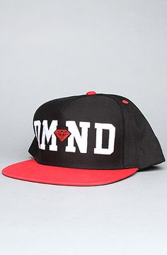 The DMND Snapback Cap in Black, Red,