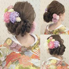 結婚式の前撮り 和装ロケーション撮影のお客様 左下に大きくシニヨンが 見えるスタイル 波ウェーブを大きめにゆるくかけて ふわっと! 淡いピンクやパープル、白のお花を 左右に沢山付けました #ヘア #ヘアメイク #ヘアアレンジ #結婚式 #結婚式ヘア #サロモ #東海プレ花嫁 #ウェディング #バニラエミュ #セットサロン #ヘアセット #アップスタイル #成人式ヘア #プレ花嫁 #和装前撮り #前撮り #着物ヘア #ヘアアクセサリー #撮影 #和装ヘア#色打掛#2016秋婚 #2017春婚 #結婚準備#成人式#和髪#2017秋婚 #2017冬婚 #wedding