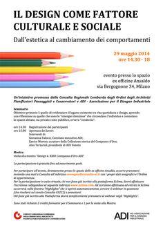 """""""Il design come fattore culturale e sociale"""", 2014 - progetto grafico Redazione di AL"""
