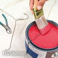 Da un Appendiabiti ricavare uno scolino per la vernice in eccesso