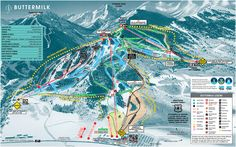 Apsen, Colorado  Buttermilk Trail Map