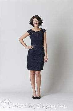 818a54a6f1b A classy and sophisticated lace dress. Available in 10 different colors.  Kennedy Blue Bridesmaid
