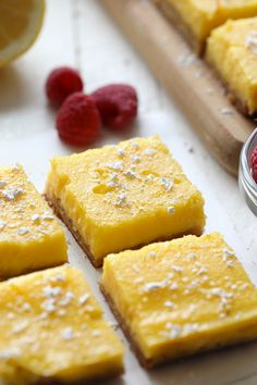 Video: Healthy Gluten Free Lemon Bars - Fit Foodie Finds