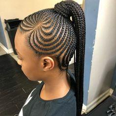 Cornrows for little girls Girls Natural Hairstyles CORNROWS Girls Lil Girl Hairstyles, Black Kids Hairstyles, Girls Natural Hairstyles, Braided Ponytail Hairstyles, African Braids Hairstyles, My Hairstyle, African Hairstyles For Kids, Medium Hairstyles, Hairstyle For Kids