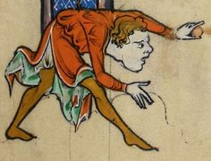 "Detail from ""The Rutland Psalter"", medieval (c1260), British Library Add MS 62925. f 30r. Good colors."