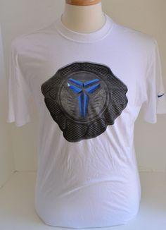 best sneakers 5abff c78f4 New Nike mens Dri Fit Kobe Bryant logo tee shirt tshirt L XXL 3XL White