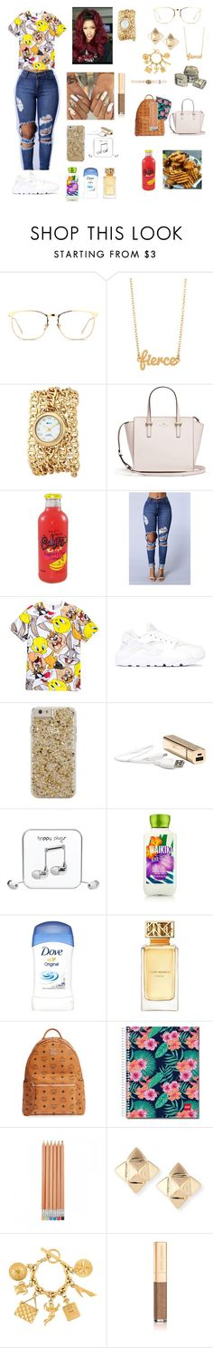 """""""Tuesday 10/18/16 46th day of school 😩💛++"""" by aleciadowdemll ❤ liked on Polyvore featuring beauty, Linda Farrow, Kris Nations, La Mer, H&M, NIKE, Case-Mate, Happy Plugs, Tory Burch and MCM"""