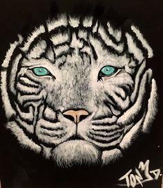 White tiger by TonyDartist on Etsy