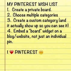 A note to @Pinterest because I love you.