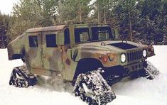 Bug Out Vehicles...army hummer with tank treads.  I think I need one of these