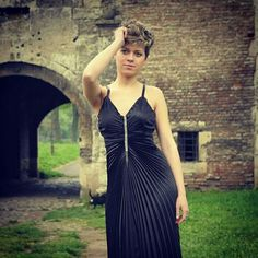 #black #prom  #dress #plise #ModniStudioLinda #linda