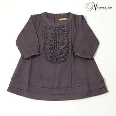 Dress with flounces in grey from GOLD