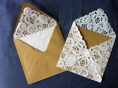 lace envelope liners