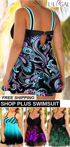 Plus Size Fashion : Sexy Plus Size Swimsuits For Curvy Women Plus Size Swimsuits, Beach Swimsuits, Cute Swimsuits, Bikinis, Girl Fashion, Fashion Outfits, Fashion Trends, Fashion Styles, Fashion Inspiration