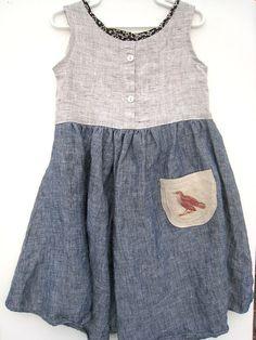 Upcycled Linen Playdate Dress - Neutral - 3T/4Thttps://www.etsy.com/listing/90819209/upcycled-linen-playdate-dress-neutral