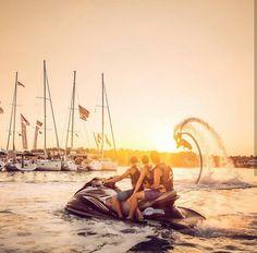 Travel is rebellion in its purest form  Awesome shot from @theyachtweek  #jetski #roamfree #travel #adventure #yachtweek #summer #fun #wanderlust #startup #bucketlist #fashion #yachtlife #orange