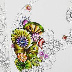 . #coloringbook #adultcoloringbook #magicaljungle #johannabasford…