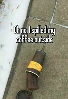 This coffee was definitely dropped in Buffalo; it's freezing here!!!