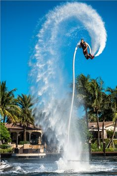 I'm embarrassed to admit this, because Flyboarding seems like it was invented for the jaded, but it looks like fun. I'd love to try it.