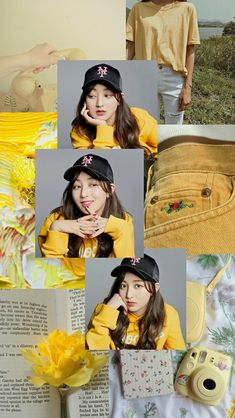 Orange Aesthetic, Kpop Aesthetic, Twice What Is Love, Twice Jihyo, Aesthetic Wallpapers, Rainbow, Cool Stuff, Yellow, Mood