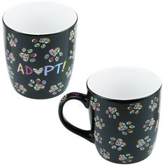 Adopt! Mosaic Paw Mug at The Animal Rescue Site - Really, shelter dogs and stray cats are the best.