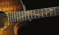 sick fret inlay on a taylor