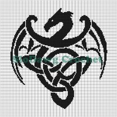 Celtic Dragon Crochet Graph Pattern pattern on Craftsy.com                                                                                                                                                                                 More